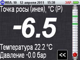 Текстовый режим индикации  гигрометра ИВА-10М